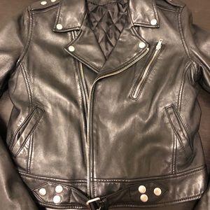 BLK DNM Moto Leather Jacket S (Kim Kardashian)